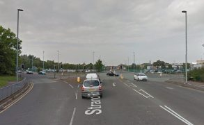Strand Road is seeing delays due to the crash Pic: Google