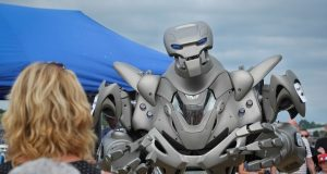 The robot stands at eight-foot-tall Pic: Paul Melling
