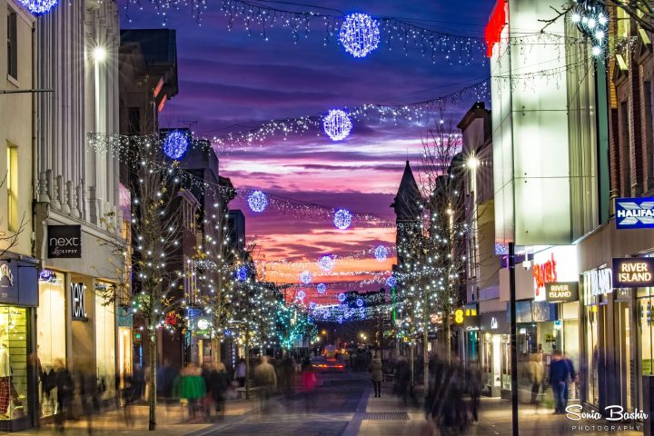 Fishergate at Christmas time