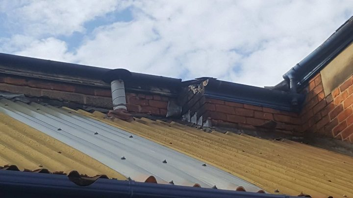 Damage to the roof at Eldon Street garage