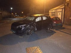 The car was found abandoned in Eldon Street Pic: LancsRoadPolice