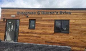 A new single-storey extension has been built at Queen's Drive Primary