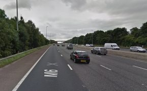 The crash has closed a lane of the M6 southbound Pic: Google