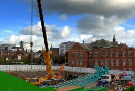 Building work progressing on UCLan's new engineering centre Pic: Tony Worrall