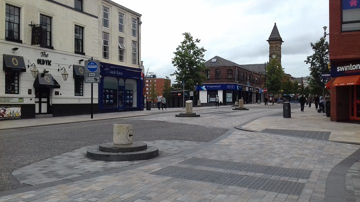 Looking back down towards the end of Fishergate