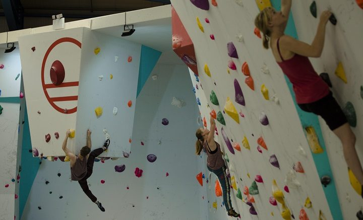 Hanging out in the new climbing centre Pic: Liam Lonsdale