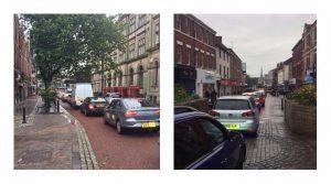 Congestion through Preston on Wednesday (20 September) Pic: Proud Preston