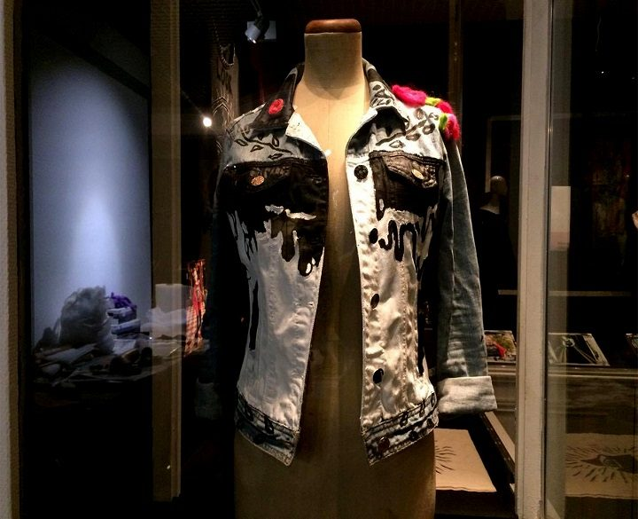 One of the cry baby tee clothing range on display in the Harris