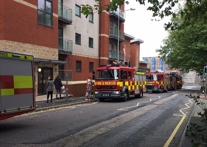 The fire crews in Lawson Street