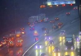 The scene on the M6 near junction 31 Pic: Highways England