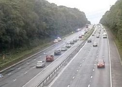The M6 was shut for more than three hours following the incident