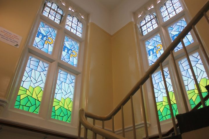 The new stained glass effect windows