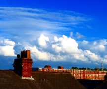 Oyston Mill with a view over the rooftops in Ashton Pic: Tony Worrall