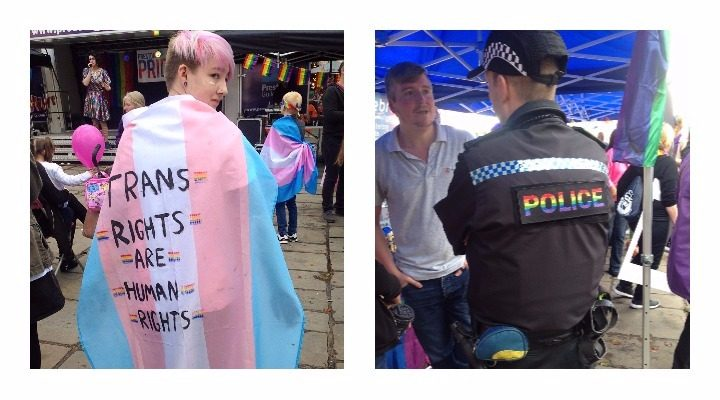 Sending a message, and police getting into the Pride spirit