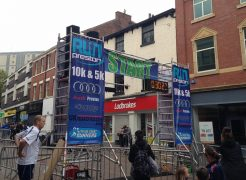 The start and finish of Run Preston was moved into Friargate due to the Markets work