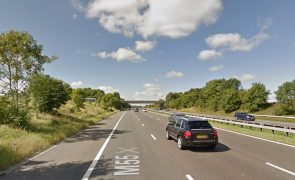 The incident took place at the Sandy Lane motorway bridge Pic: Google