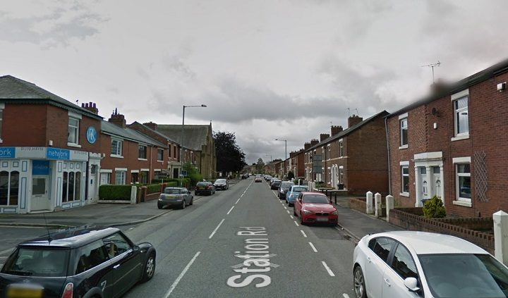 Station Road in Bamber Bridge saw a heavy police presence Pic: Google