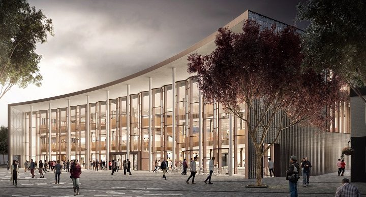 How the student centre will look - facing towards the Adephi Square