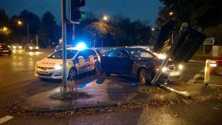 The scene of the crash in Ashton-on-Ribble Pic: LancsRoadPolice