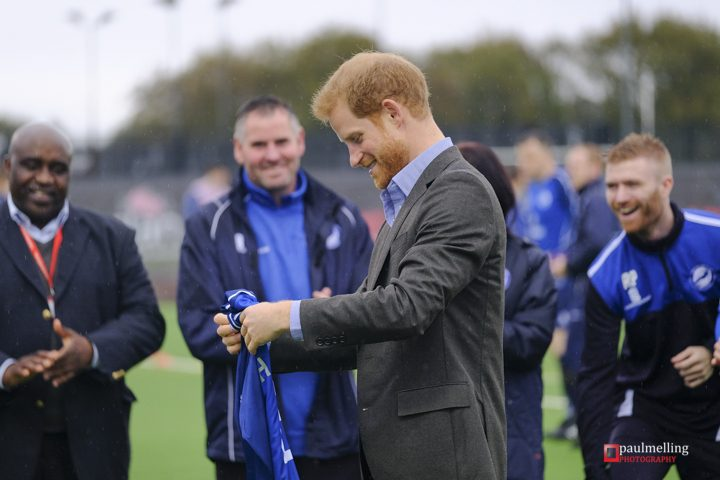 Prince Harry at the UCLan Sports Arena