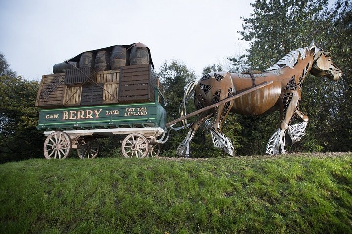 Another view of Bobby the Iron Horse