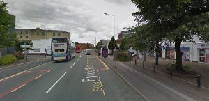 The group were found outside the Students' Union building in Fylde Road after a concern for safety call Pic: Google