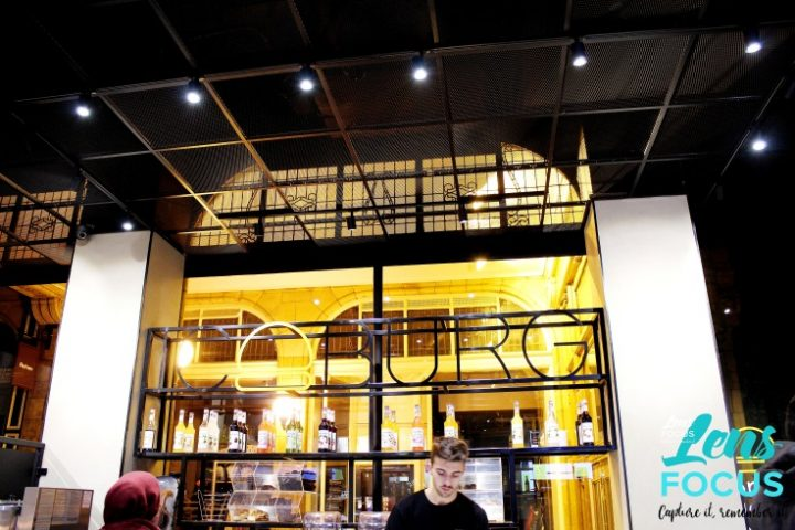 Inside Iceburg burger bar in Miller Arcade