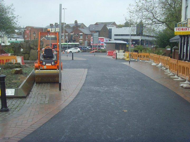 Lune Street's new road is progressing Pic: Tony Worrall