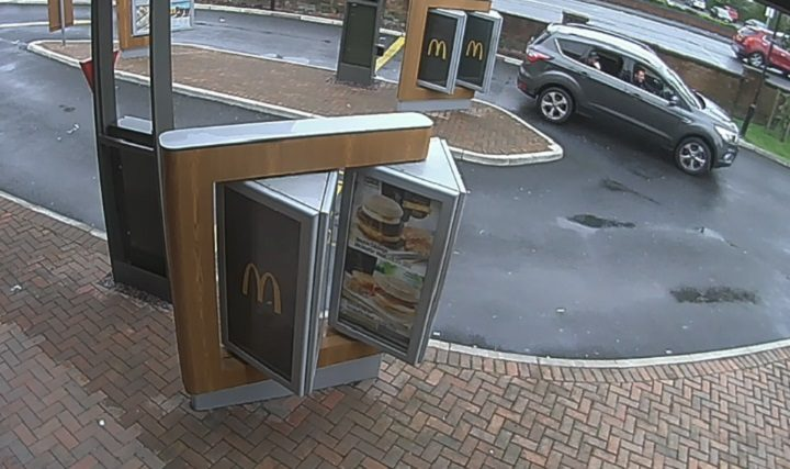 CCTV pictures of the McDonalds drive-through where the victim's debit card was said to have been used