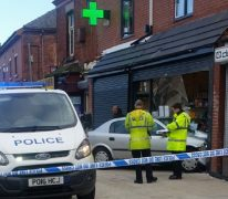 The car was being retrieved from the chemist's