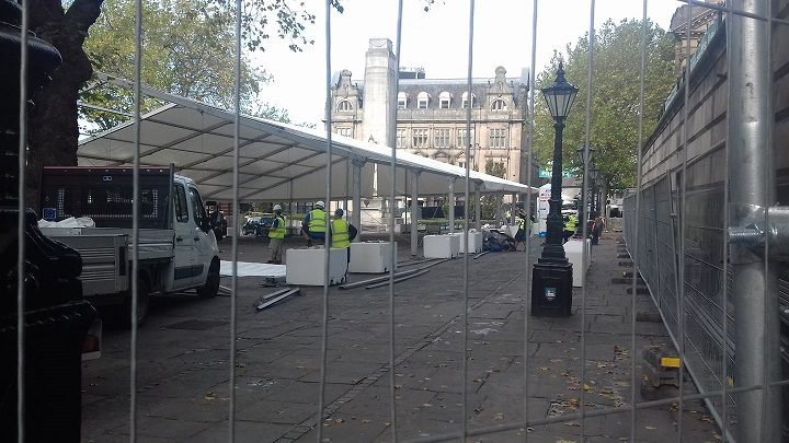 Oktoberfest taking shape in Preston city centre Pic: Tony Worrall