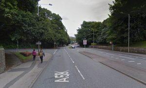 Liverpool Road is closed heading into Preston Pic: Google