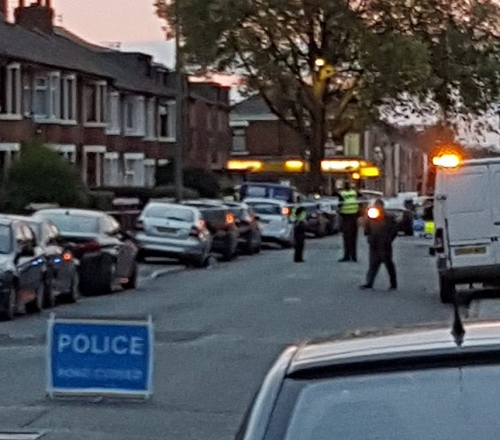 The scene in St George's Road on Saturday Pic: JudgeTouk