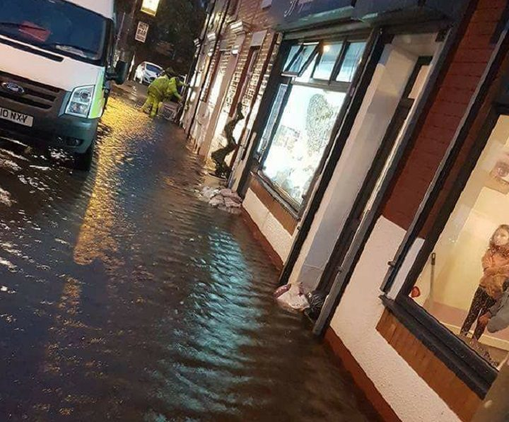 This was Station Road in Bamber Bridge around 8pm on Saturday Pic: Mark Wilson