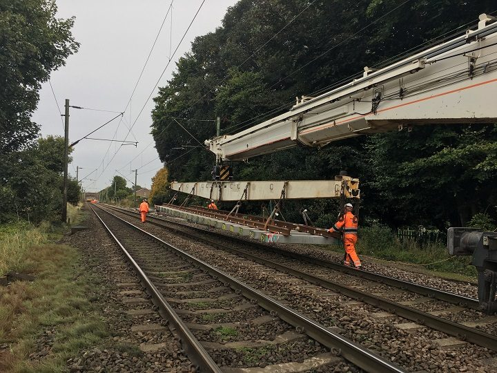 Network Rail engineers at work