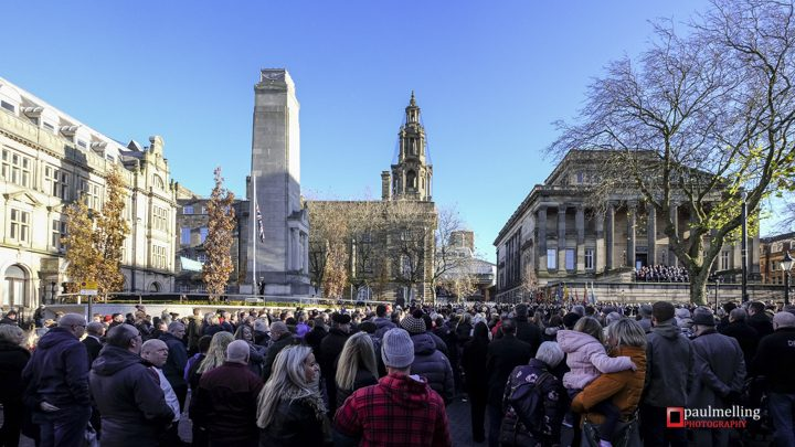 The Cenotaph was the focal point for the Remembrance service Pic: Paul Melling
