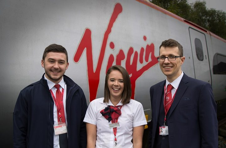 Joe, Samantha and Simon are the apprentice recruits for Virgin Trains