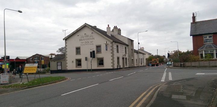 Broughton crossroads with its new look