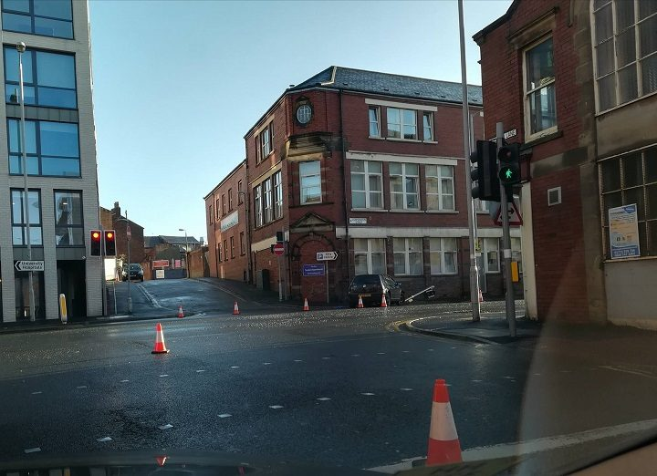 The scene in Corporation Street, Preston Pic: Matthew Duckworth