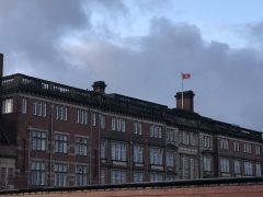 The White Ribbon flag above County Hall Pic: Benjamin Wareing