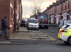 The police cordon in Emmanuel Street Pic: Adam Dunkley
