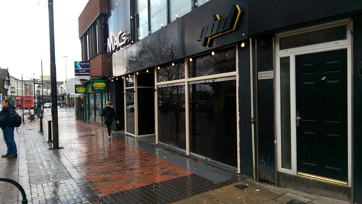 The former Macs bar in the city centre