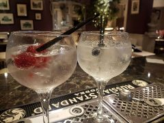 Gin cocktails at Salvatore's