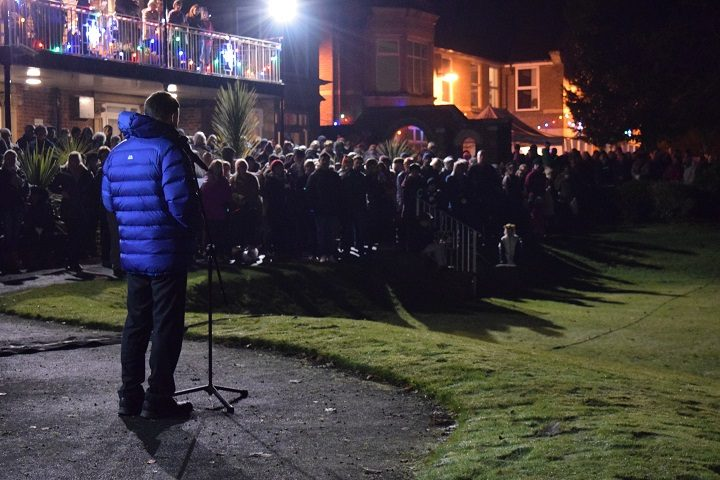 Crowds at last year's Light Up A Life at St Catherine's