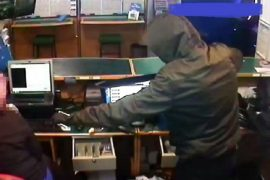 CCTV picture of the suspect from the armed robbery in Lostock Hall