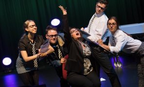 Students performing ExtraOrdinary - written in the space of a week