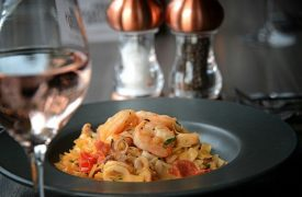 Seafood dish at the Olive Tree Brasserie