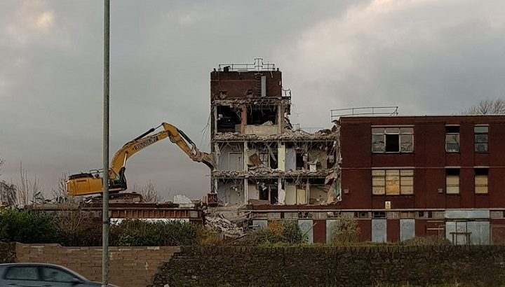Demolition work at the Ribbleton Hospital site Pic: Anthony Douglas John McAiney