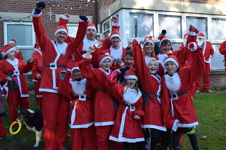 A pack of Santas at last year's Christmas Festival