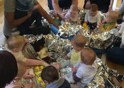 Babies enjoying the Little Explorers class